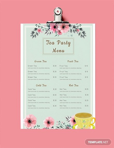 Baby Shower Menu Template Awesome Free Baby Shower Menu Template Download 36 Menus In Psd