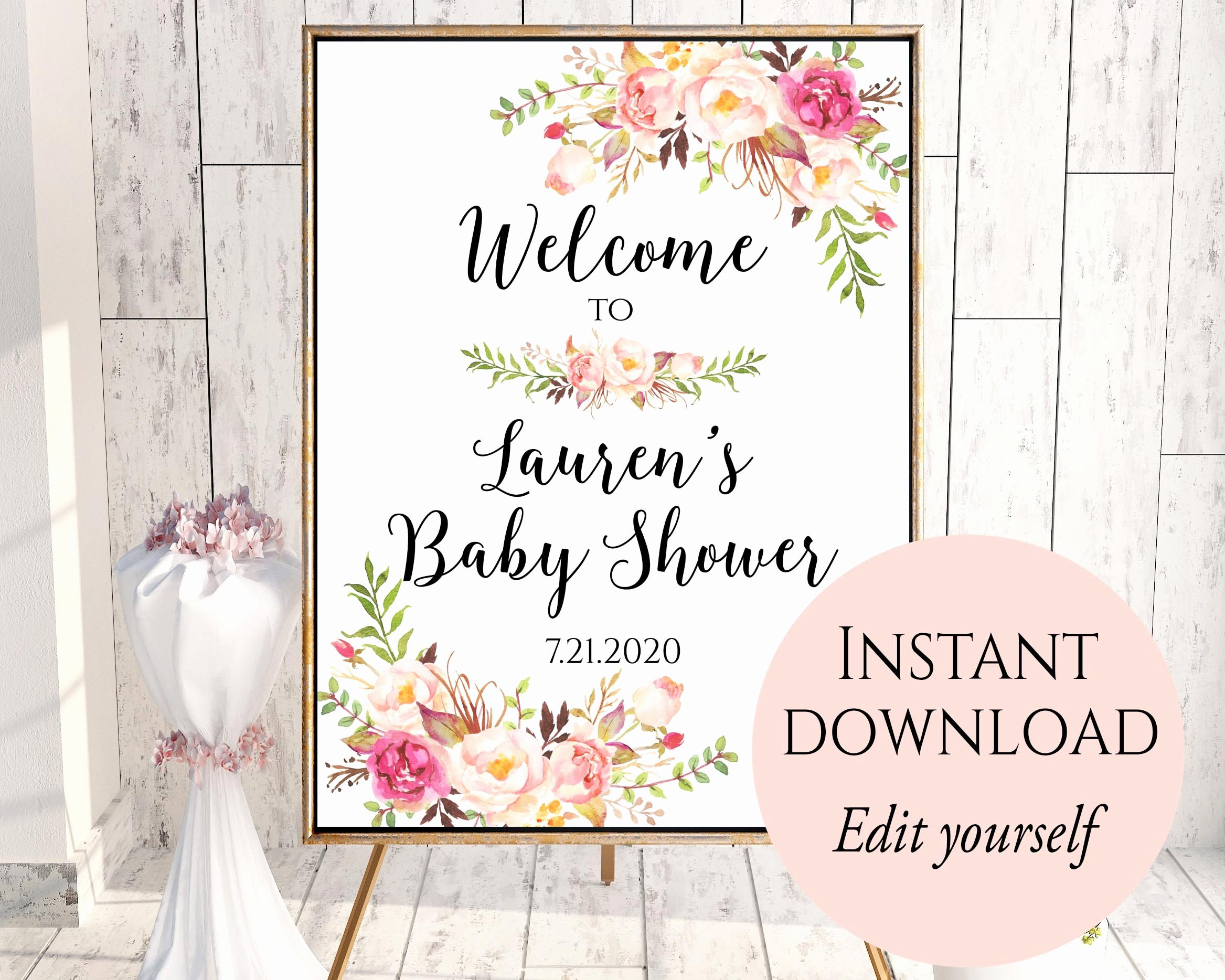 Baby Shower Menu Template Best Of Wel E to Baby Shower Baby Shower Wel E Sign Template