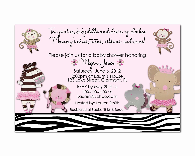 Baby Shower Menu Template Fresh Baby Shower Brunch Invitations Wording Templates