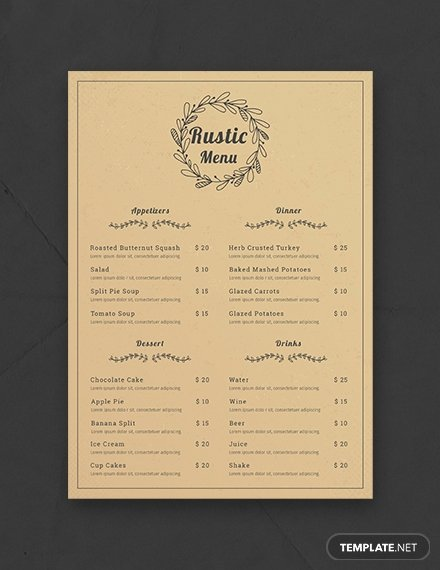 Baby Shower Menu Template Lovely Free Baby Shower Menu Template Download 36 Menus In Psd