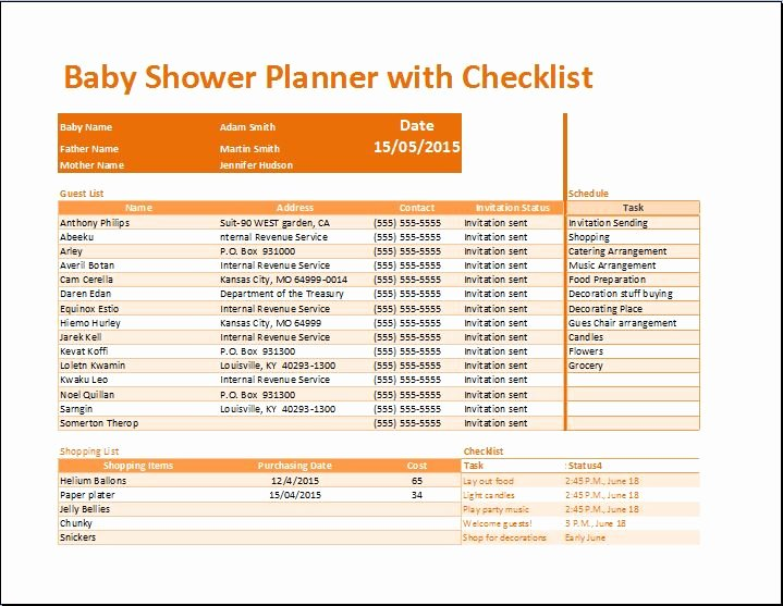 Baby Shower Planner Template Lovely Baby Shower Planner Template to Pin On Pinterest