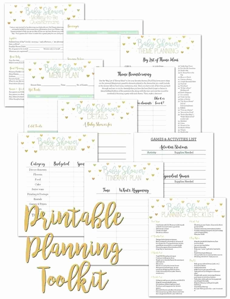 Baby Shower Planner Template Luxury 97 Baby Shower Planner Template Baby Shower Planner