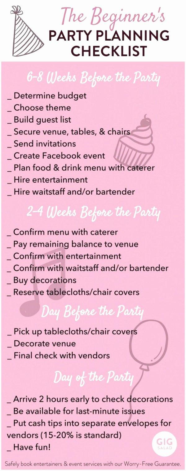 baby shower agenda template