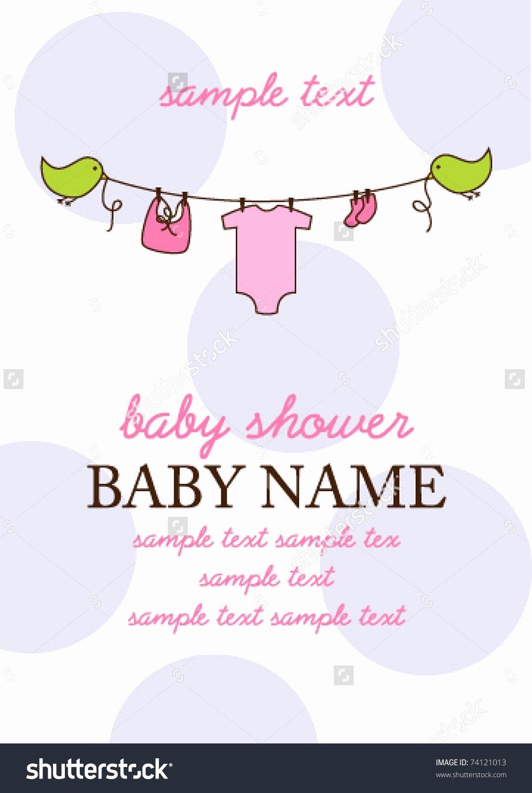 Baby Shower Program Template Elegant Baby Shower Program Template Agenda Stock