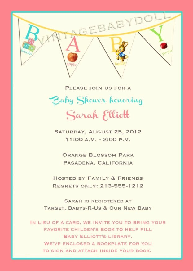 Baby Shower Program Template New How to Word Baby Shower Invitations Doc A Invitation Best
