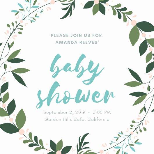 Baby Shower Program Template Unique Customize 678 Baby Shower Invitation Templates Online Canva