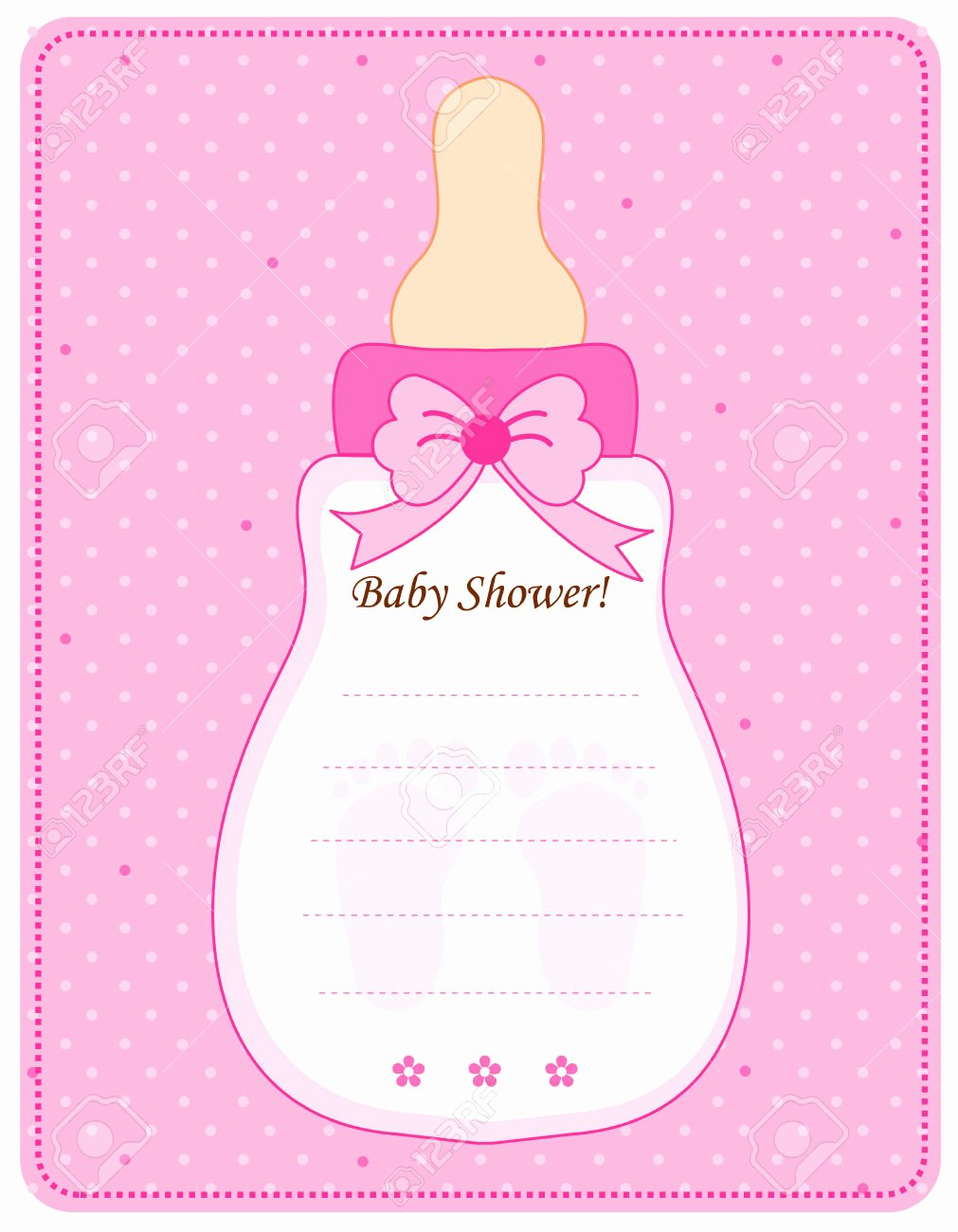 Baby Shower Programs Template Awesome Baby Girl Invitation Templates
