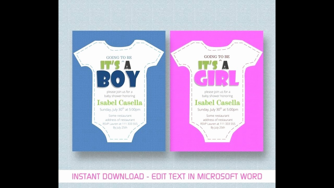 Baby Shower Programs Template Awesome Baby Shower Invitation Template for Ms Word