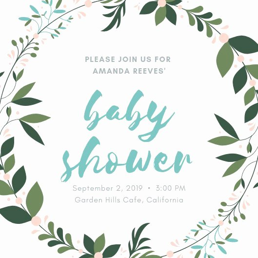 Baby Shower Programs Template Beautiful Customize 678 Baby Shower Invitation Templates Online Canva
