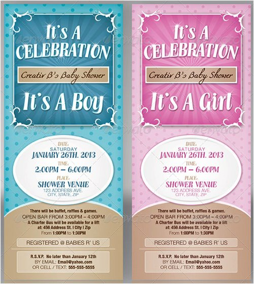 Baby Shower Programs Template Fresh 77 formal Invitation Templates Psd Vector Eps Ai