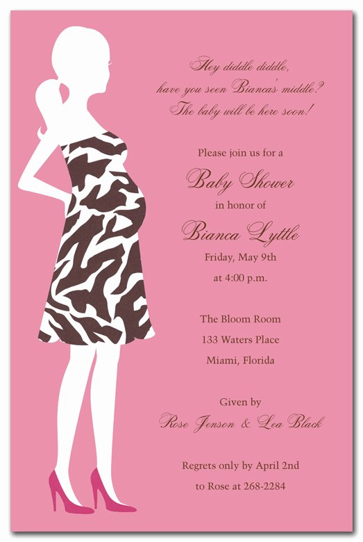 Baby Shower Programs Template Unique Zebra Mom Pink Baby Shower Invitations by Invitation
