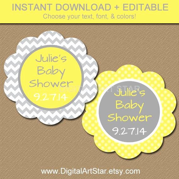Baby Shower Tag Template Best Of Baby Shower Favor Tags Diy Printable Thank You by
