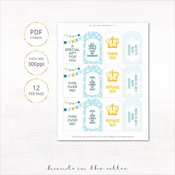 Baby Shower Tag Template Fresh 10 Awesome Gift Tags