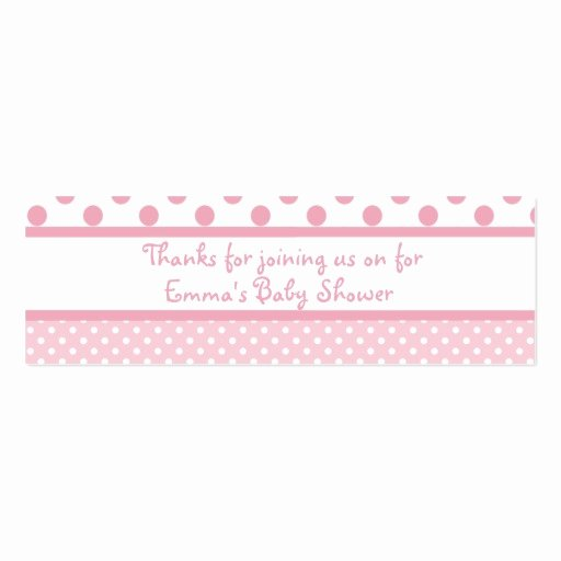 Baby Shower Tag Template Fresh Pink Dots Baby Shower Favor Tag Business Card Template