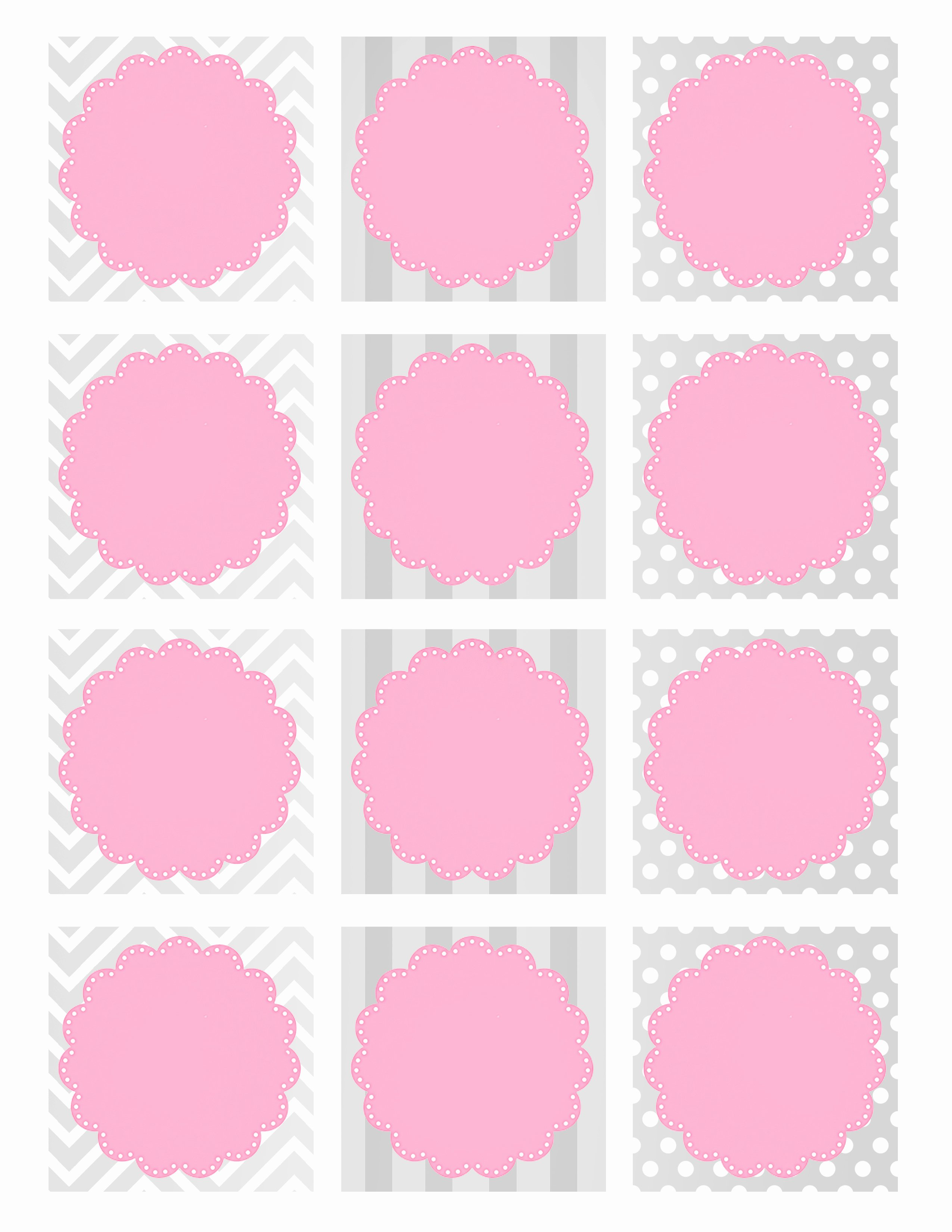 Baby Shower Tag Template Lovely Baby Girl Shower Free Printables How to Nest for Less™