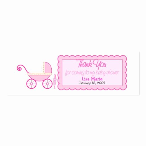 Baby Shower Tag Template Lovely Baby Shower Favor Tag Double Sided Mini Business Cards