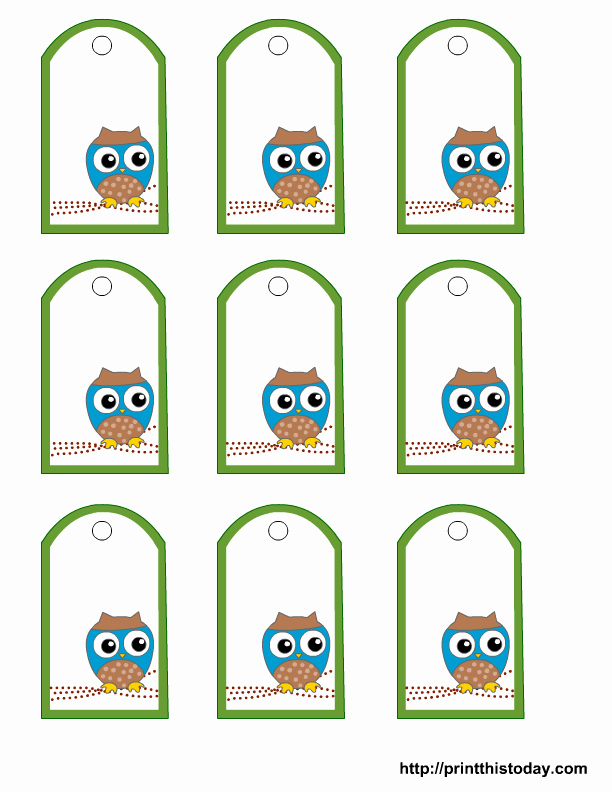 Baby Shower Tag Template Unique Free Owl Baby Shower Favor Tags Templates