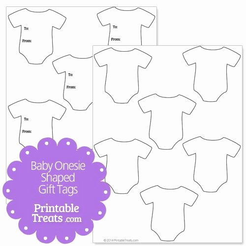 Baby Shower Tags Template Awesome Baby Esie Shaped Gift Tags Baby Shower