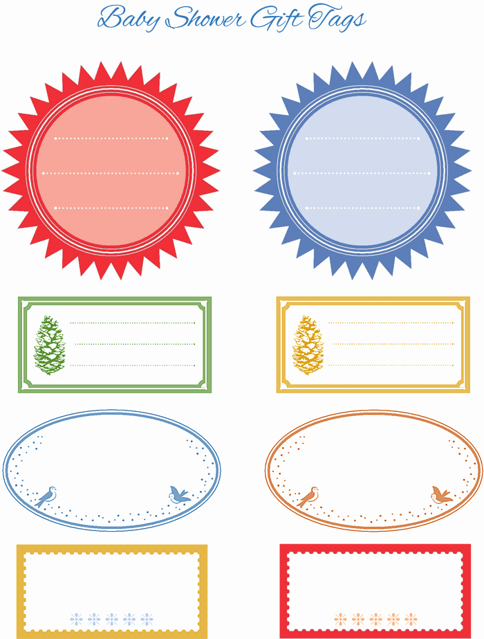 Baby Shower Tags Template Best Of 5 Gift Tag Templates to Create A Personalized Gift Tag