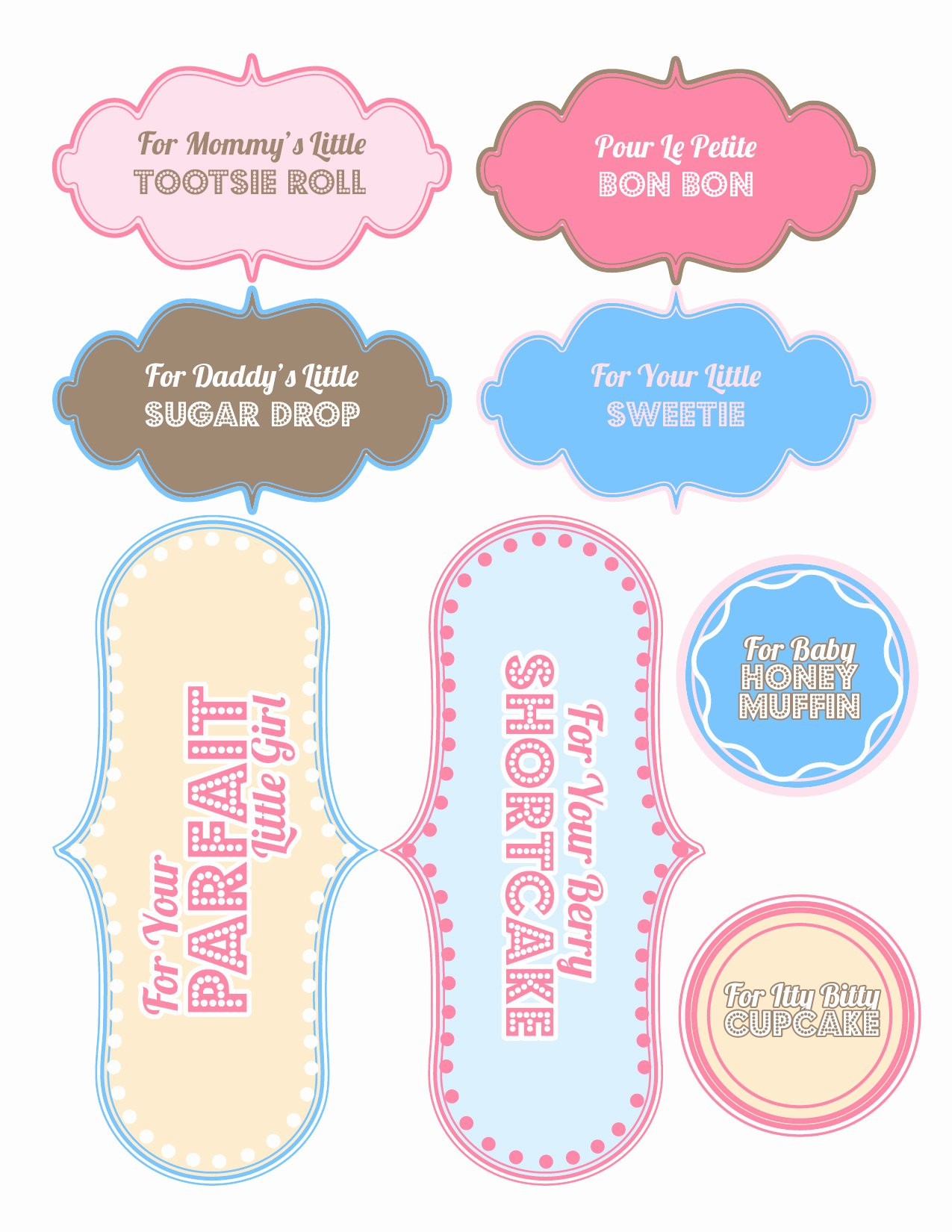 Baby Shower Tags Template Lovely 6 Best Of Printable Baby Shower Favor Labels Free