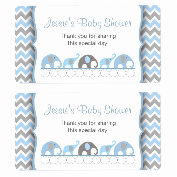 Baby Shower Tags Template Unique 24 Sample Water Bottle Label Templates to Download