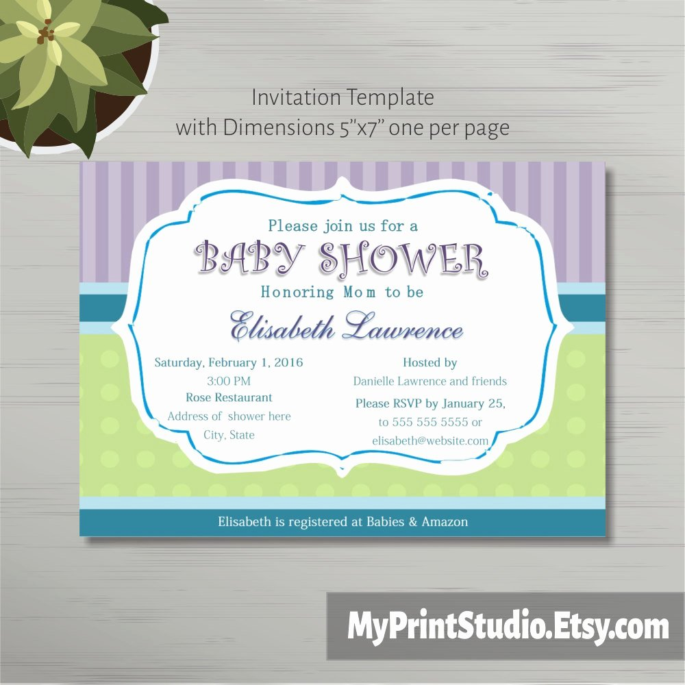 Baby Shower Template Word Beautiful Printable Baby Shower Invitation Template In Ms Word Boy Girl