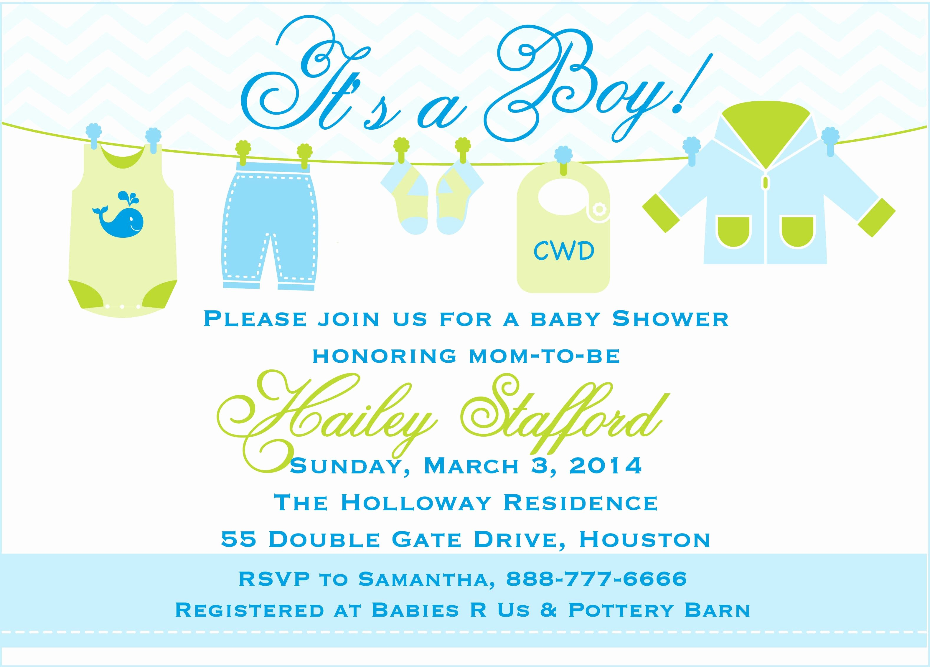 Baby Shower Template Word Best Of Baby Shower Invitation Templates for Word