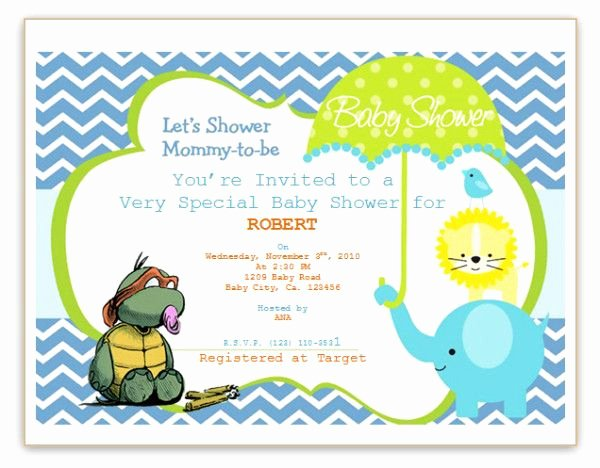 Baby Shower Template Word Inspirational Baby Shower Invitation Template