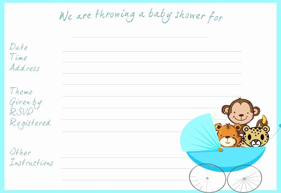 Baby Shower Template Word New Baby Shower Invitation Templates Word