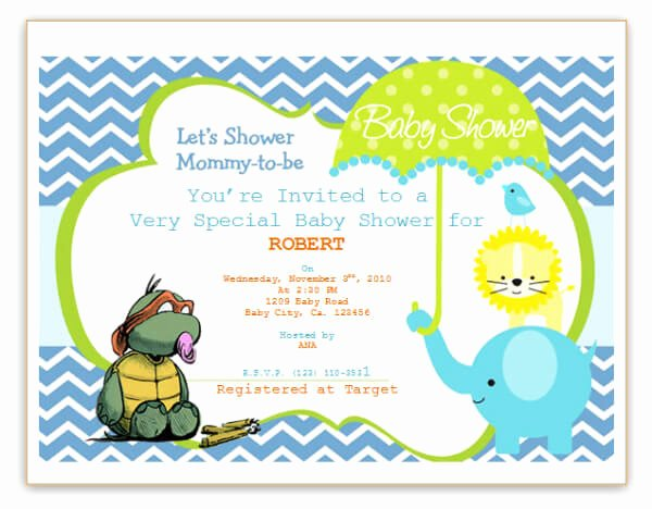 Baby Shower Template Word Unique Free Printable Baby Shower Flyers Template