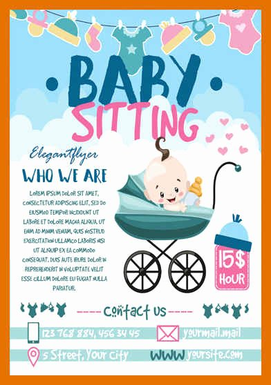Babysitting Flyer Template Free Luxury 5 6 Babysitting Flyers