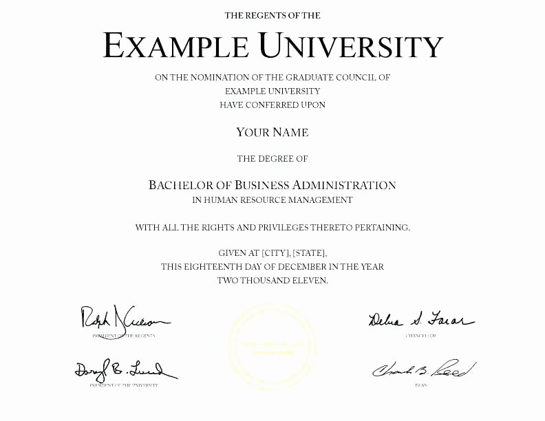 Bachelor Degree Template Free Lovely Honorary Degree Certificate Template Line Fake College