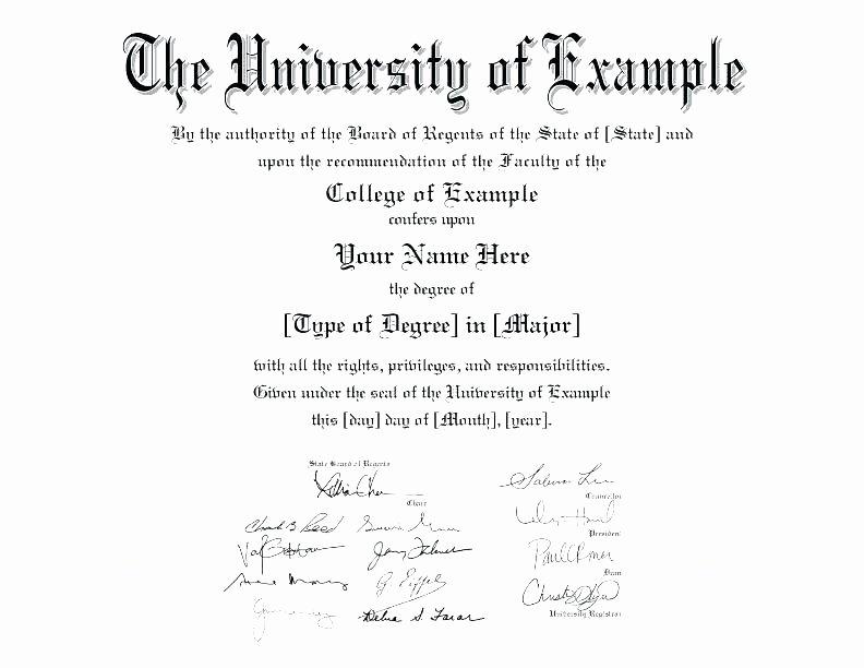 Bachelor Degree Template Free Luxury Bachelor Degree Template Fake Degree Template University