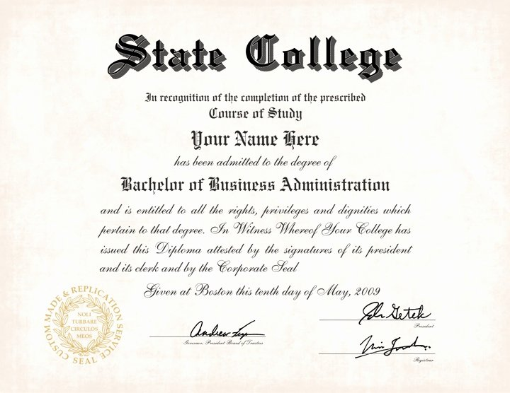 Bachelor Degree Template Free Luxury Us College Diploma Style 5