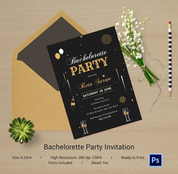 Bachelor Party Invitation Template Fresh Bachelorette Invitation Template 40 Free Psd Vector