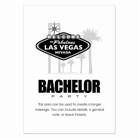 Bachelor Party Invitation Template Lovely Vegas Bachelor Party Invitations & Cards On Pingg