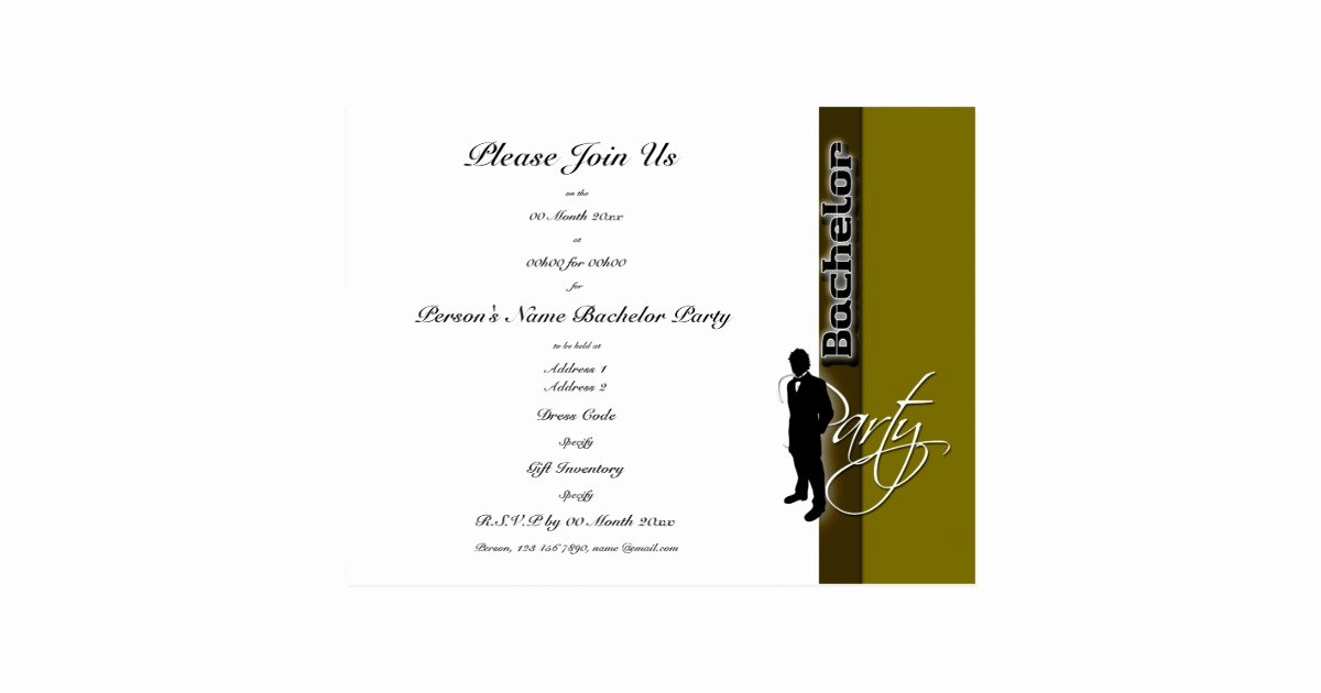 Bachelor Party Invite Template Awesome Template Bachelor Party Distinguished Invitations Postcard