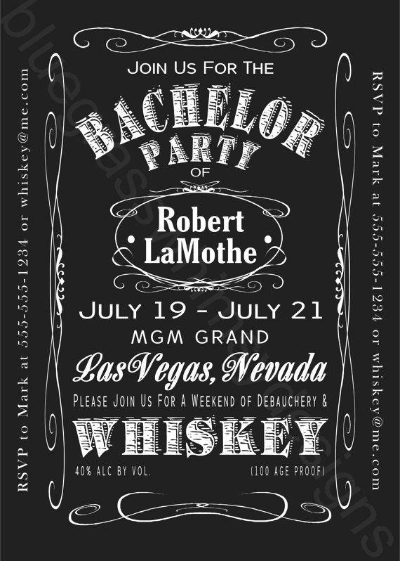 Bachelor Party Invite Template Elegant Jack Daniels Bachelor Party Weekend 5x7 by Bluegrasswhimsy