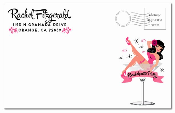 Bachelor Party Invite Template Elegant Pink Pin Up Girl Bachelorette Party Invitation [di 2007