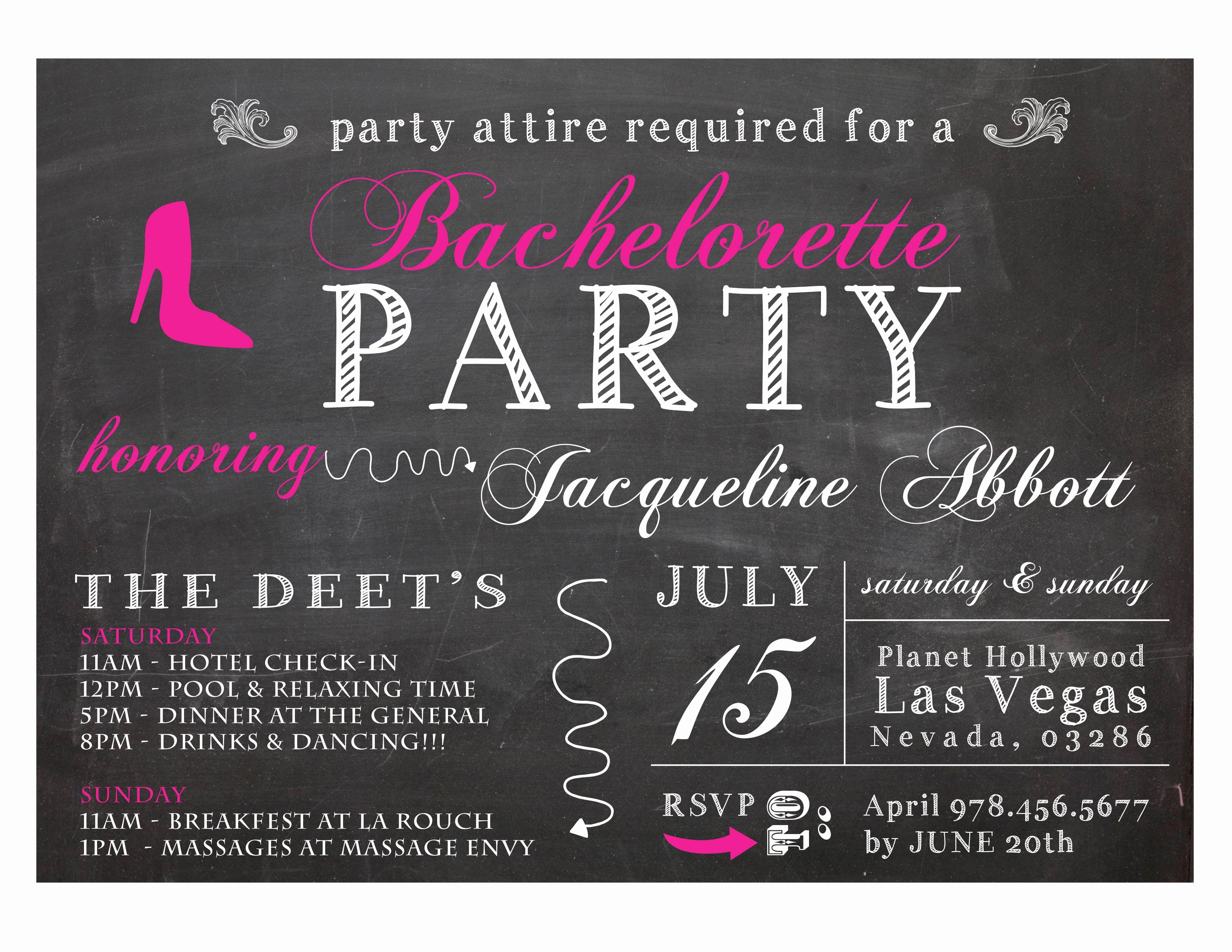 Bachelor Party Invite Template Inspirational Bachelor Party Invitations