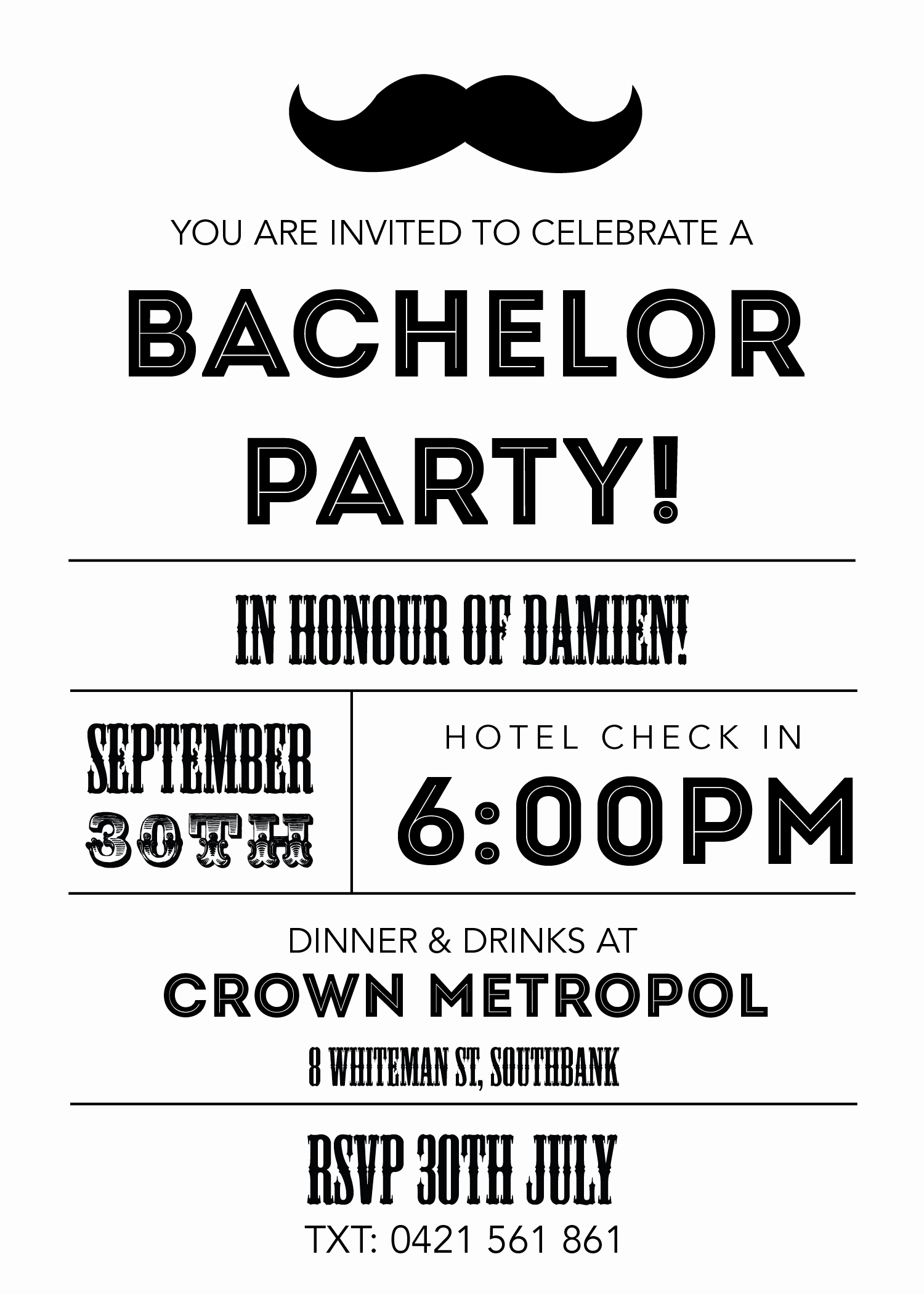 bachelor party invitations and the invitations of the party invitation templates to the party sketch with cool idea 4