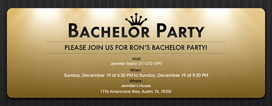 Bachelor Party Invite Template Lovely Free Line Bachelor Party Invitations