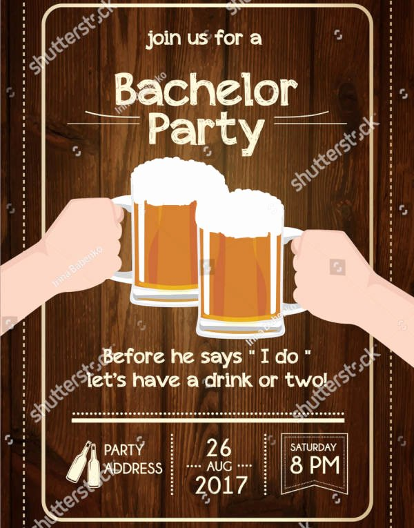 Bachelor Party Invite Template Luxury 12 Bachelor Party Invitation Designs & Templates Psd