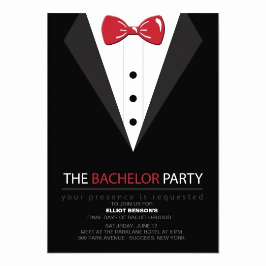 Bachelor Party Invite Template Luxury the Bachelor Party Invitation