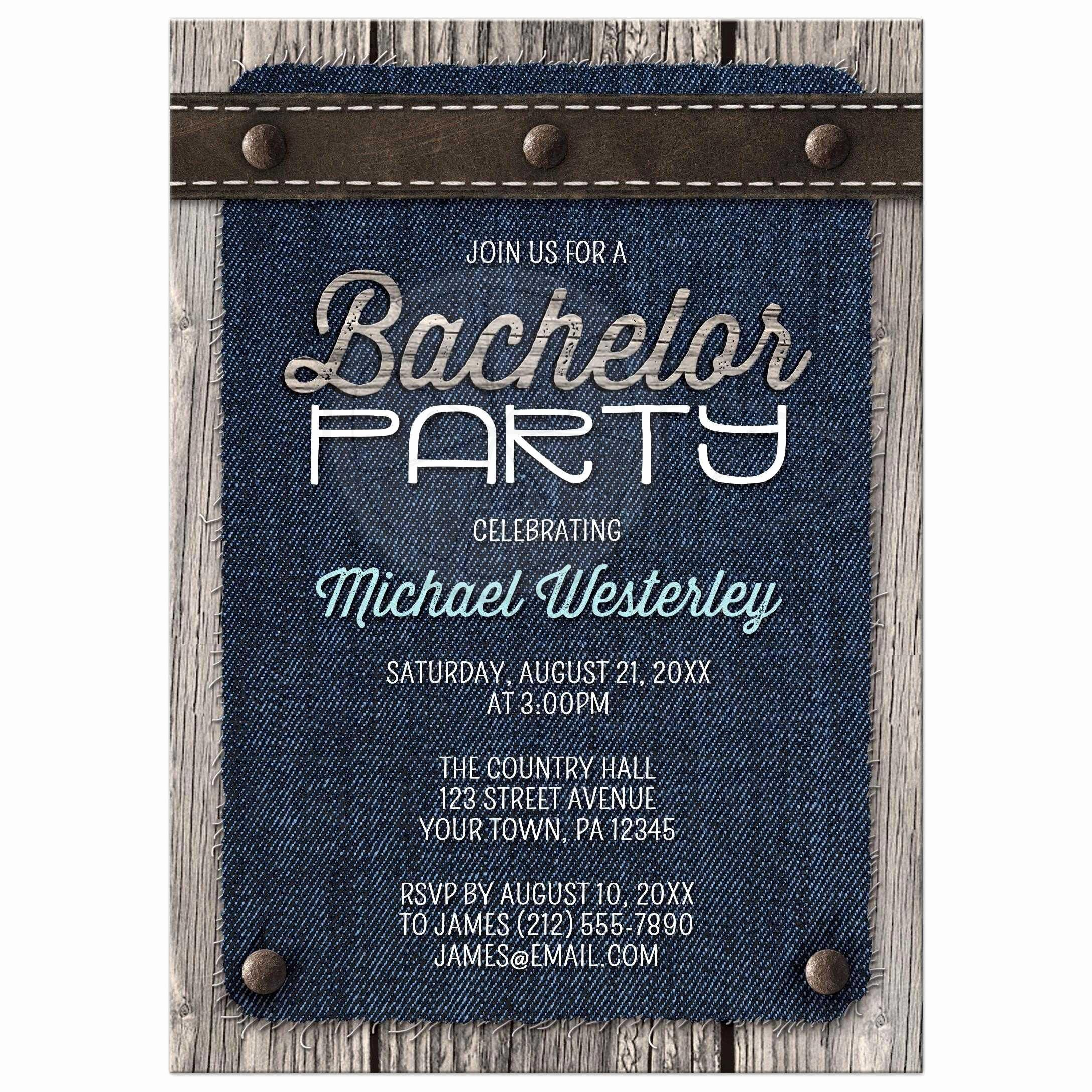 Bachelor Party Invite Template New Bachelor Party Invitations