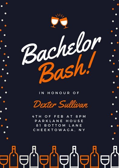 Bachelor Party Invites Template Awesome Customize 21 Happy Hour Invitation Templates Online Canva