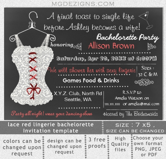 Bachelor Party Invites Template Beautiful Bachelorette Party Printable Invitation