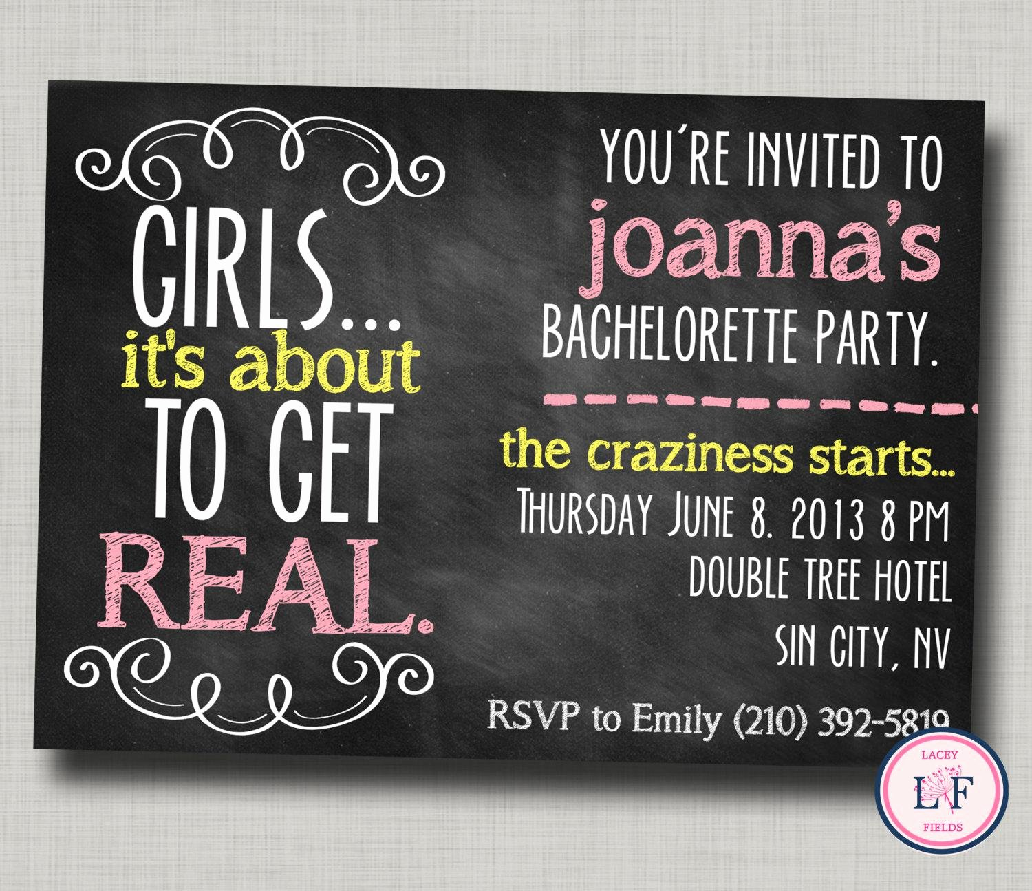 Bachelor Party Invites Template Elegant Bachelor Party Invitations