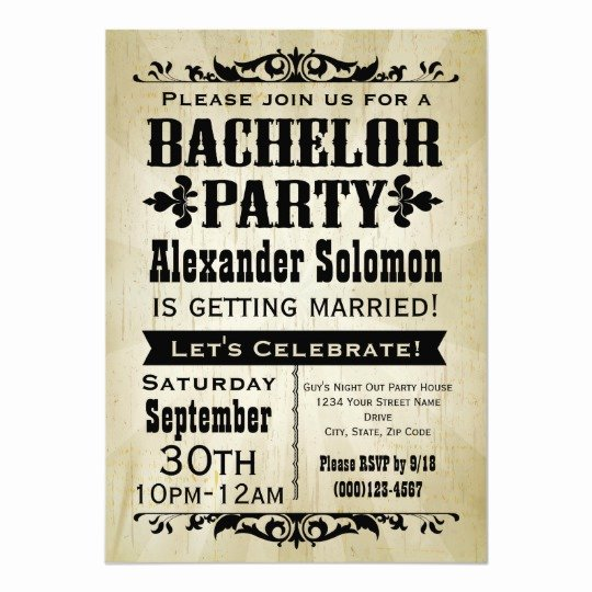 Bachelor Party Invites Template Fresh Vintage Country Bachelor Party Invitation