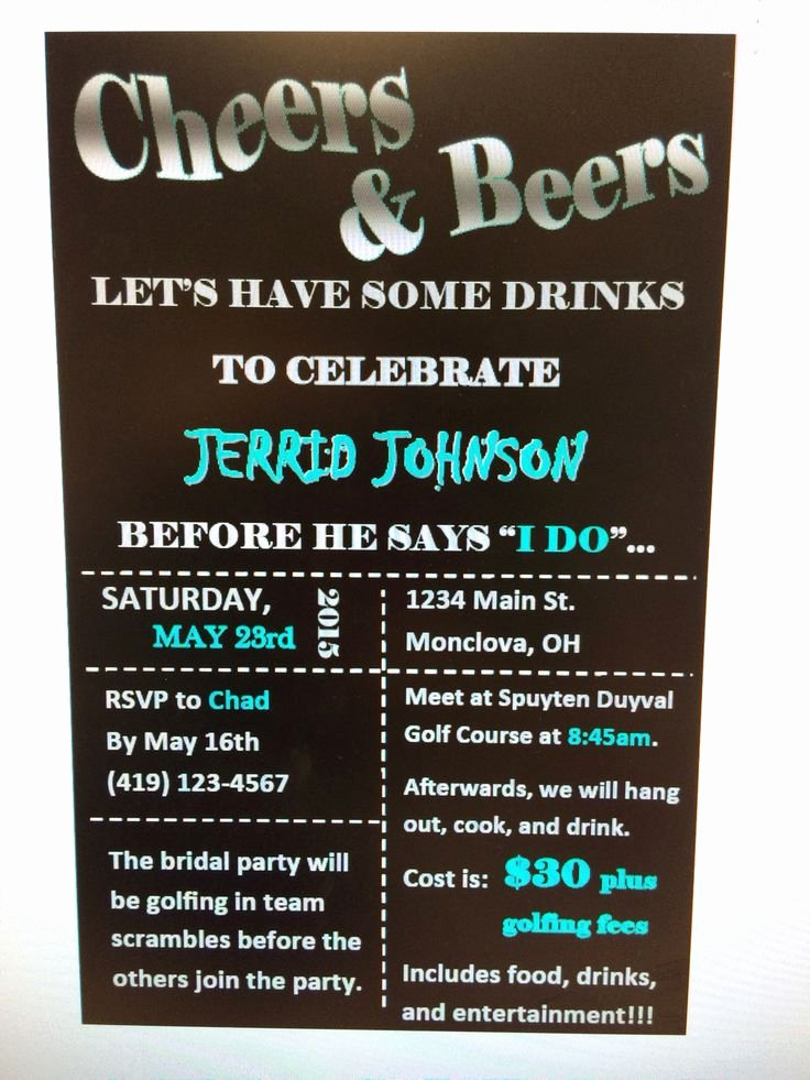 bachelor party invitations bucks party